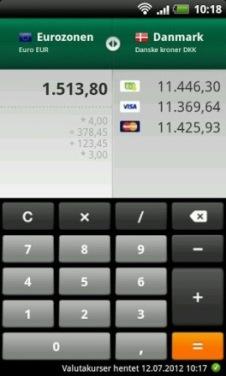 valuta omregner mobil apps