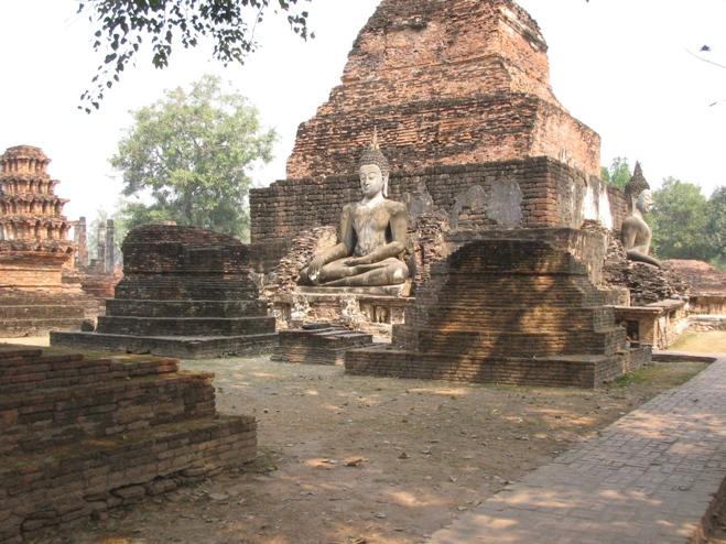 Thailand Sukhothai billeder ruiner fra den gamle hovedstad